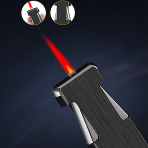 Jet Çakmak Windproof Doldurulabilir Bütan Gaz Kırmızı Alev Torch Çakmak Taşınabilir Metal Çakmak Erkek alet
