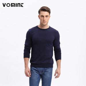 Vomint Erkekler Katı Triko Düzenli O yaka Casual Uzun Kollu Örgü Erkek Sonbahar Yeni Sınıf Tasarım F6PI6637