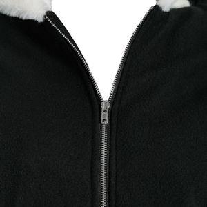 Women Hooded Coat Winter Warm Patchwork Pocket Jackets Hoodies Women Fashion Coats Long Sleeve Zip Up Outerwear Sweatshirt