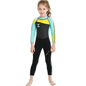 Combinaison de haute qualité pour les enfants garçons et filles à manches longues de maillot de bain d'une pièce de maillot de bain à manches longues à manches longues pour enfants surfer sur la maillot de bain maillot de bain plongée en apnée