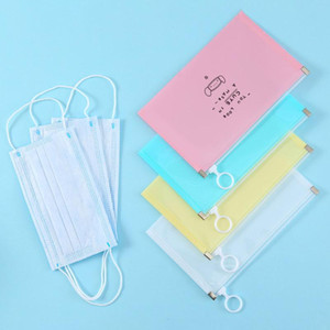 1Pcs Portable With Zipper Waterproof Temporary Storage Holder Dustproof Clip Reusable PP Plastic Bag for Disposable Mask