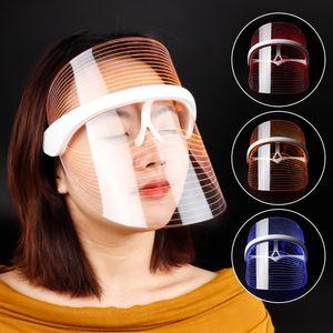 3 Renkler LED Işık Terapi Yüz Maskesi Anti-Aging Anti Kırışıklık Beatuy Araçları Yüz Spa Enstrüman Güzellik Cihazı Cilt Sıkın