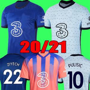 Chelsea Maillot de foot CFC PULISIC ZIYECH HAVERTZ KANTE WERNER ABRAHAM CHILWELL MOUNT JORGINHO 2020 2021 Maillots de football GIROUD 20 21 kit hommes + enfants enfant de la