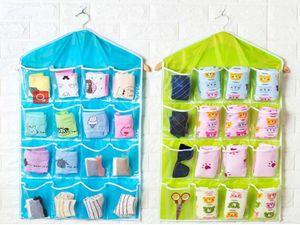 16 Cepler Kalın Fonksiyonlu Temizle Çorap Sütyen Kozmetik İç Sıralama Depolama Kapı Duvar Dolap Organizatör torbayı Asma