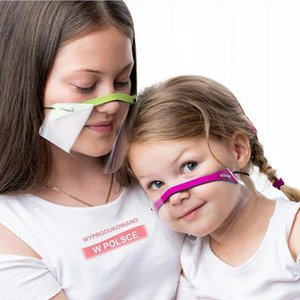 Transparent Mask Anti-spitting Facial Protective Shield Clear Masks Breathable Deaf-mute Lip Language Mouth Cover Adult Child LJJP779