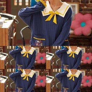 Womes منامة ثوب الحرير الكبار البيجامة باس النوم أنثى الصيف الربيع الرئيسية مثير مصمم الرافعة الفاخرة SleepBlue الأسود KbE6