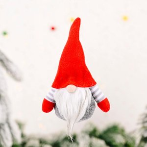 Christmas Ornament Multicolor Santa Long Beard Snowman Faceless Lovely High Quality Toy Doll Hang Party Newyear Decoration yxlGUq homes2007