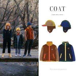 EnkeliBB осень Пальто Марка Дизайн TAO Дети мальчиков Зимняя куртка с Zip флиса имитация овечьей шерсти вскользь пальто