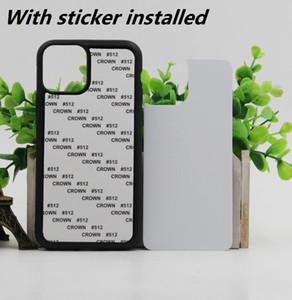 Caso telefono 2D sublimazione TPU PC in bianco per iPhone 12 11 Pro Max SE 8 8plus X xr xs max con inserti in alluminio