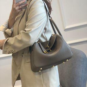 2021 Nuovo Lindy High-end personalizzato Personalizzato 2021-Layer Top-Layer Tote Bowhide Medicine Bag Shoulder Shoulder Jackbag