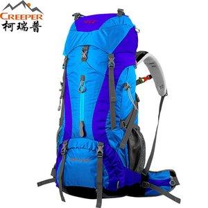 Enredadera Profesional Montañismo Al Aire Libre Capacidad 60 + 5L Mochila de viaje de nylon