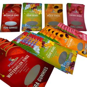 Gummies Dernière cartouche Pura Sacs mylar jetables pour Emballage Vape Carts8.3 Candy Bookies Sacs Sacs Prouver