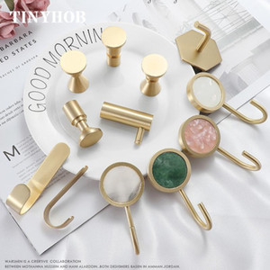 Various shape  Multiple color Wall Clothes Hanger Coat Solid brass Coat Rack hook Wall hanger Hat and Bag hooks Pretty Home