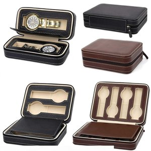 Portable Pu Leather 2 4 8 Slot Watch Box Display Case Storage Watch Organizer Holder Zipper Exquisite And Durable To Lover D35 SH190729