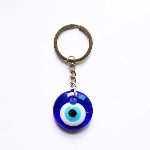 Glas blau Böse Eye Keychain Schmuck Griechisch Türkei Amulett Blau Devil Eye Bag Kette Für Frauen