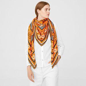 Women Silk Big Square Scarf 90*90 Handmade Twill Reall Silk Scarves Hand Knock Shawl Pashmina Wrap