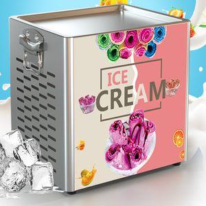 Beijamei Thai Karıştırması Fry Dondurma Rulo Makinesi Elektrikli Küçük Kızarmış Dondurma Yoğurt Makinesi Satılık