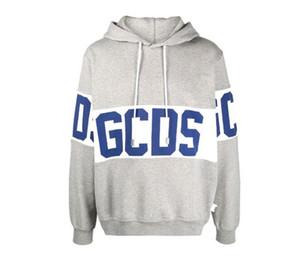 Chegada Nova Atacado GCDS Homens Logo listrado Hoodie Sweater Outono / Inverno Factory Outlet