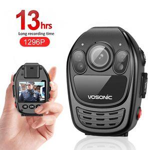 13hrs времени записи 1296p HD камеры автомобиля DVR диктофон DV Security Body Изношенные Cam ночного видения видео клип