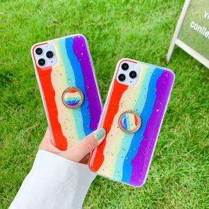 IPhone 11 phonecase caso diseñador de moda phonecase caja del teléfono Anillo del arco iris para IPhone 11Pro / MAX / XS