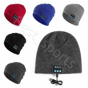 5 couleurs Oreillette Bluetooth Hat Musique Beanie Cap 21.5 * 20.5cm Smart Wireless Hiver chaud Casquettes tricotées CYZ2868 50pcs