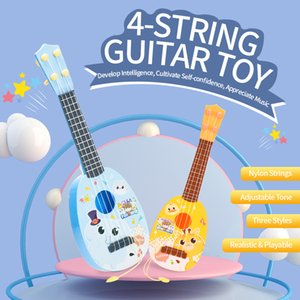 4 String Mini Guitar Toy Kid Baby Early Education Music Guitar Toy Kid Cute Christmas Gift 3 styles
