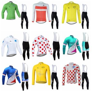 TOUR DE FRANCE team custom made Cycling long Sleeves jersey bib pants set Hot Sell MTB outdoor sports cycling equipment 102915