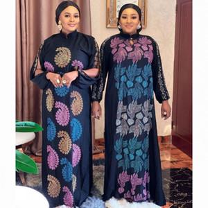 2020 Abaya Dubai Luxury High Class Diamonds Muslim Dress Embroidery Lace Ramadan Kaftan Islam Kimono Women Turkish Eid Mubarak