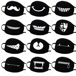Masken D31406 Gesichtsmasken 2020 Kaomoji-Kun 3D Cover Maske Kawaii Anime Breathstaubmaske Emotiction Mund Cotton Black Face Anti Cartoo Fxvd