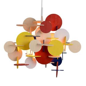 Normann Bau chandelier is Danish  creative geometric structure to build bedroom lights children's building blocks stitching simple