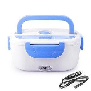 AHTOSKA Portable1.05L12v 220V Electric Heating Lunch Box Car Plug Food Warmer Bento For School Office Home Plastic Dinnerware 201120