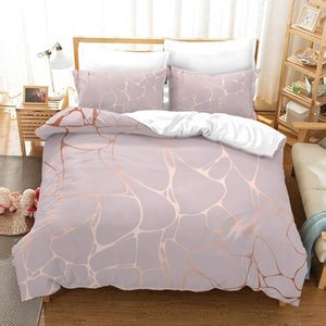 3D Print Geometric Bedding set Marble Comforter Cover Pillowcase Single Double Full Queen Girls Bed Cover Bedspread 2 3 Piece