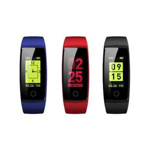 V10 intelligente Wristband fitness Heart Rate Monitor 0 .96 Oled pressione Smart Banda acitivity Tracker Pedometro Blood For Ios Android