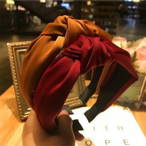 Haimeikang Cores sólidas atado Faixa de Cabelo por Mulheres Headbands Hairbands Headwear New Arrival
