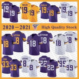 19 Adam Thielen MinnesotaViking Football Jersey 18 Justin Jefferson 33 Dalvin Cook 8 Kirk Cousins 22 Harrison Smith 99 Danielle Hunter