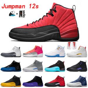 retro 12 12s Zapatos de alta calidad de los hombres de baloncesto Juego de la gripe Deporte moda de los hombres zapatillas de deporte Formadores