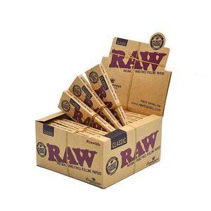 Классическая родная имитация Сырой бумаги Табак для курения сигарета Rolling Paper Roll Cigarettes Papers 110 мм