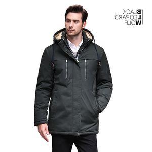 Blackleopardwolf 2019 kış ceket erkek moda parka kalın rahat manşet çıkarılabilir ceket BL-6605