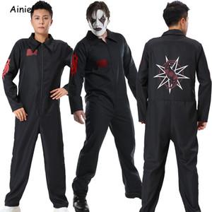 Joey Jordison Mask SlipKnot Jumpsuit Cosplay Costume Black Sport Clothing Halloween Party Bodysuit Men Christmas Suit