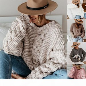 Loose Sweater Womens Designer O Neck Pullover Knit Sweaters Solid Color Autumn Winter Women Casual Clothing