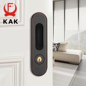 KAK انزلاق مع مفاتيح مخفية مقبض الداخلية التأثيرات المضادة للسرقة غرفة الخشب قفل باب أثاث 201013