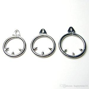 Кольцо Дополнительного мужчина Барб Целомудрие 3 Anti-Пролить Размеры кольца Пенис устройств из нержавеющей стали против эрекции Cages Cock Unwmn
