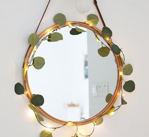 led rattan lamp room decoration maple leaf green vine copper wire lamp eucalyptus vine Christmas light battery box lamp string copper wire w