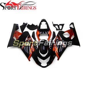 ABS Fairings For K4 GSX-R 600 04 05 Suzuki GSX-R 750 2004 2005 Complete Injection Bodywork Sportbike Body Coves Black Orange