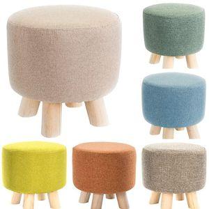 Wäsche Baumwolle Runde Hocker Abdeckungen Fußhocker Slipcover für R BAR Home Küche Hotel Büro Decor Ottomane Cover
