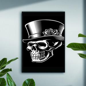 Big Size Skulls Vector Wall Art Picture Minimalist Canvas Poster Print Modern Fashion Art Painting Home Decor