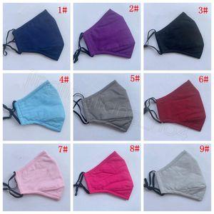 FactoryColor Coton Coton Lavable Bouche Visage Solide Couvre-Couvre Étudiant PM2.5 DUBLOF Masques d'extérieur pour enfants Adulte avec F 3 IAFB2