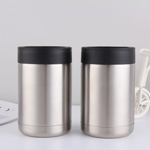12oz Mugs Tumbler Mugs Insulated Double Wall Stainless Steel Car Beer Cup Beer Mugs Cola Can Flat Bottom Cup Tumbler Drinkware OWA1738