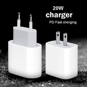 Type-C 20W EU US US Plug AC DC PD Быстрое зарядное устройство для iPhone12 Мобильный телефон 20 Уолта Power Atta Power Attapter с портом USB-C