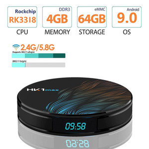 HK1 MAX Android 9.0 TV BOX 2GB 16GB 4GB 64GB 32GB RK3318 Quad core 2.4G 5G Dual Wifi BT 4.0